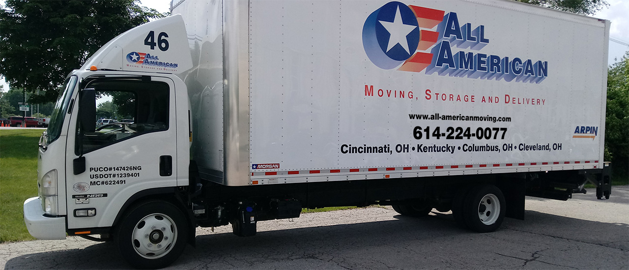 New Moving Truck for All American moving Storage and Delivery